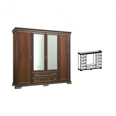 KORA keturių durų spinta su veidrodžiu KS3