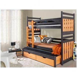 Dviaukštė trivietė lova SAMBOR