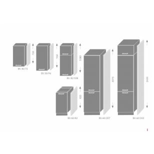 DOUBLE sistemos šonas BS30/72