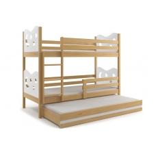 Dviaukštė trivietė lova MIKO 3