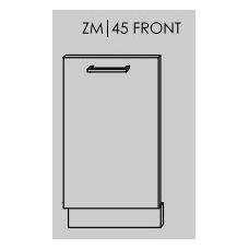 Įmontuojamos durelės indaplovei SILVER ZM/45