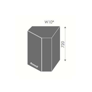 Kampinė pakabinama spintelė SILVER W10