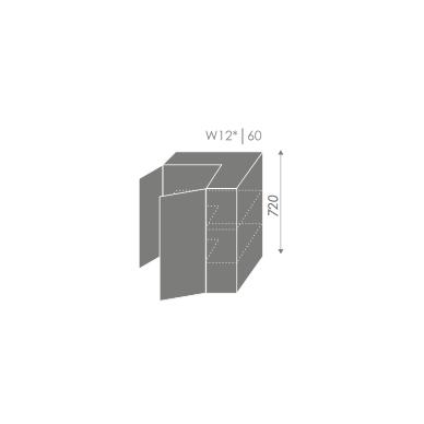 Kampinė pakabinama spintelė SILVER W12 60