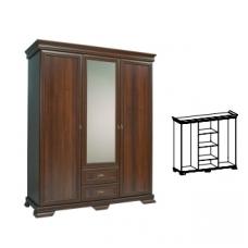 KORA trjų durų spinta su veidrodžiu KS2