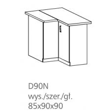 LUNA pastatoma kampinė spintelė D90N