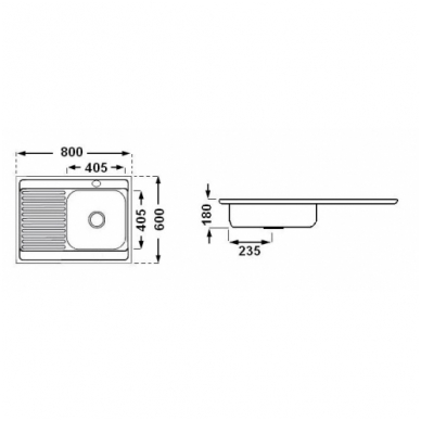 Nerūdijančio plieno plautuvė uždedama su sifonu 3