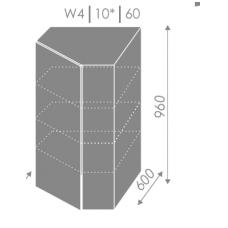 Pakabinama kampinė spintelė  PLATINUM  W4 10 60