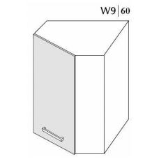 Pakabinama kampinė spintelė PLATINUM  W9 60