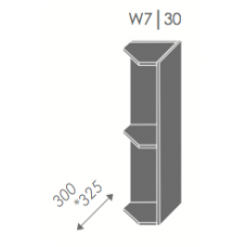 Pakabinama kampinė spintelė QUANTUM W7 30