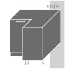 Pastatoma kampinė spintelė QUANTUM  D12 90