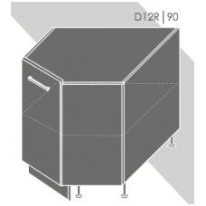 Pastatoma kampinė spintelė QUANTUM  D12R 90