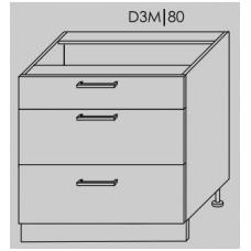 Pastatoma spintelė  PLATINUM   D3M 80