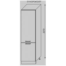 Pastatoma spintelė SILVER  D14/DP/60/207