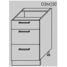 Pastatoma spintelė SILVER D3M 50