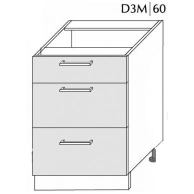 Pastatoma spintelė  SILVER D3M 60