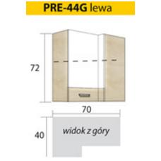 PREMIO pakabinama kampinė spintelė PRE-44G (dešininė)