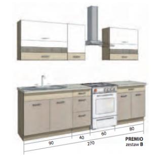 PREMIO virtuvinis komplektas B