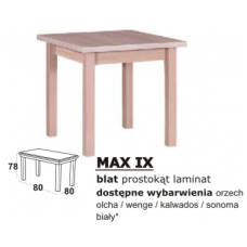 Stalas medinis MAX IX