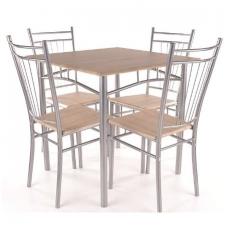 Stalo ir 4 kėdžių komplektas Fit