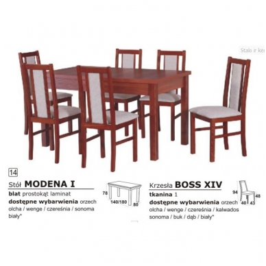 Stalo ir kėdžių komplektas 14