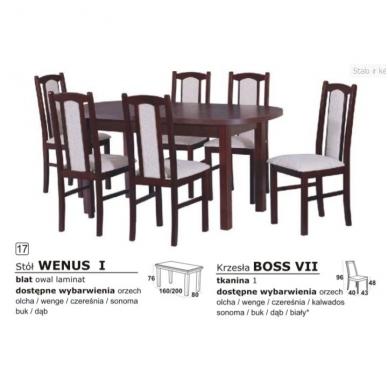 Stalo ir kėdžių komplektas 17