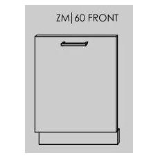 TITANIUM įmontuojamos durelės indaplovei ZM/60