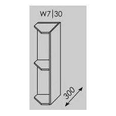 TITANIUM pakabinama kampinė spintelė W7/30