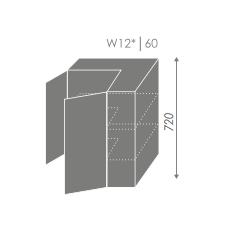 TITANIUM pakabinama spintelė W12 60