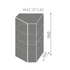 TITANIUM pakabinama spintelė W4 10/60