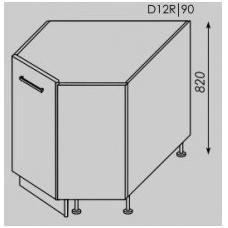 TITANIUM pastatoma kampinė spintelė D12R/90