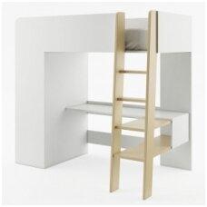 TOM TM-01 dviaukštė lova su spinta ir stalu